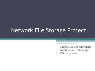 Network File Storage Project