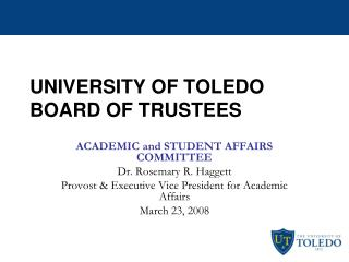 UNIVERSITY OF TOLEDO BOARD OF TRUSTEES