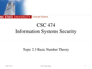 CSC 474 Information Systems Security