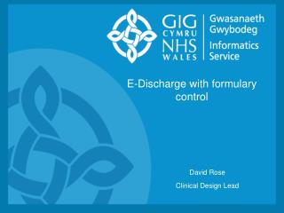 E-Discharge with formulary control