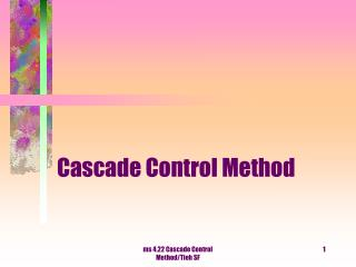 Cascade Control Method