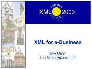 XML for e-Business