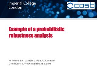 Example of a probabilistic robustness analysis