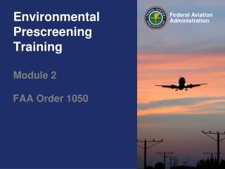 Environmental Prescreening Training  Module 2
