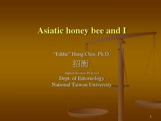 Asiatic honey bee  and I
