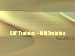 SAP Training – MM Training
