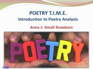 POETRY T.I.M.E.  Introduction to Poetry Analysis