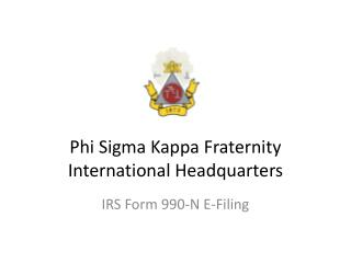 Phi Sigma Kappa Fraternity International Headquarters