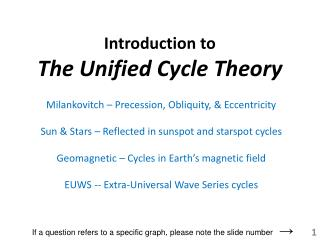 Introduction to The Unified Cycle Theory