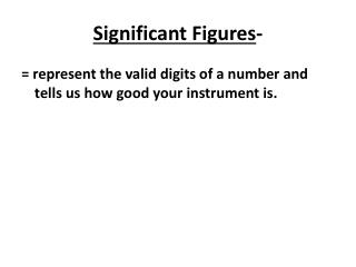 Significant  Figures -
