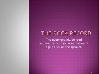 The Rock Record