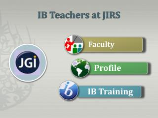 IB Teachers at JIRS