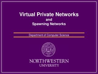 Virtual Private Networks and Spawning Networks