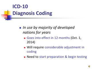 ICD-10  Diagnosis Coding