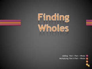Finding Wholes