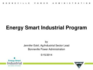 Energy Smart Industrial Program