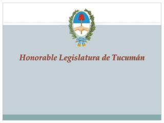 Honorable Legislatura de Tucumán