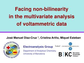 Facing non-bilinearity in the multivariate analysis of voltammetric data