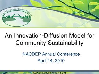 An Innovation-Diffusion Model for Community Sustainability