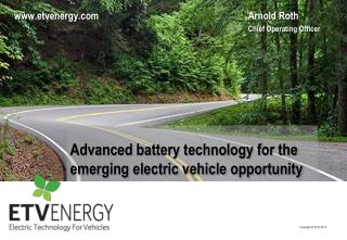 Advanced battery technology for the emerging electric vehicle opportunity
