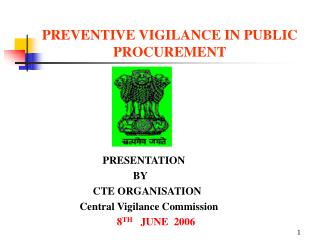 PREVENTIVE VIGILANCE IN PUBLIC PROCUREMENT