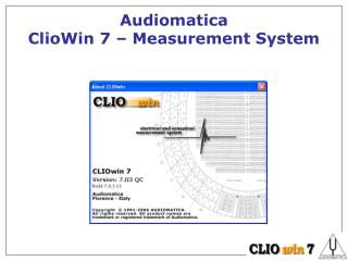 Audiomatica  ClioWin 7 – Measurement System