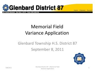 Memorial Field  Variance Application
