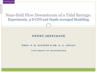 Near-field Flow Downstream of a Tidal Barrage:  Experiments, 3-D CFD and Depth-averaged Modelling