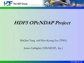 HDF5 OPeNDAP Project