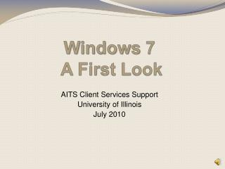 Windows  7   A First Look