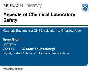 Aspects of Chemical Laboratory   Safety