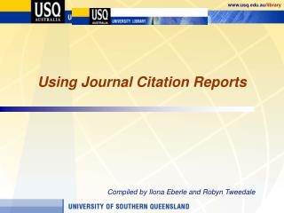 Using Journal Citation Reports