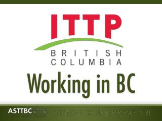 Working in BC