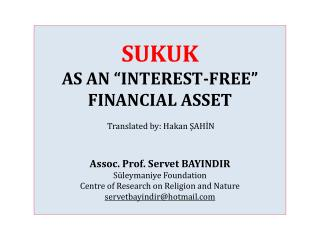 Definition of Sukuk