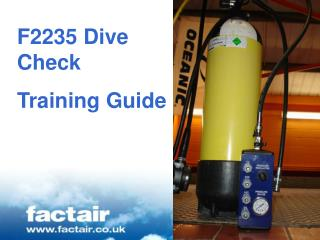F2235 Dive Check Training Guide