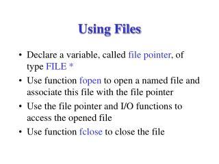 Using Files