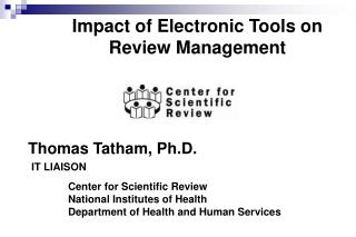 Impact of Electronic Tools on Review Management