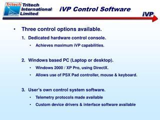 iVP Control Software