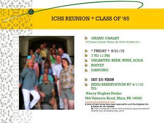 ICHS REUNION * CLASS OF '65
