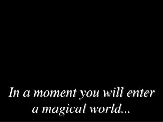 In a moment you will enter a magical world ...