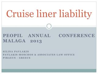 Cruise liner liability