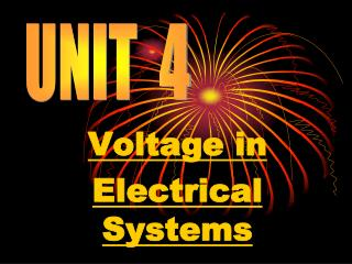 Voltage in  Electrical Systems