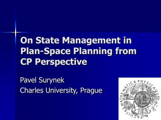 On State Management in Plan-Space Planning from CP Perspective