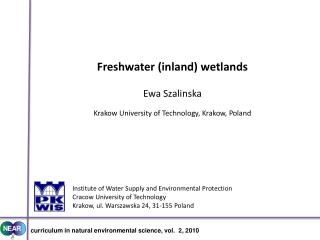 Institute of Water Supply and Environmental Protection Cracow University of Technology