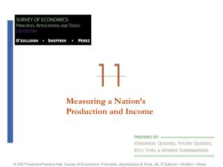 MEASURING A NATION'S PRODUCT AND INCOME
