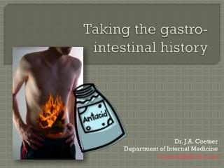 Taking the gastro- intestinal history