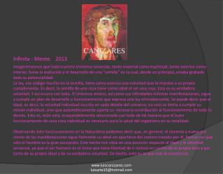 Infinita - Mente. 2013