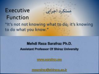 Mehdi  Reza  Sarafraz  Ph.D. Assistant Professor Of Shiraz University sarafraz
