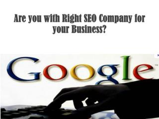 Global SEO Services- Are you with Right SEO Company for your