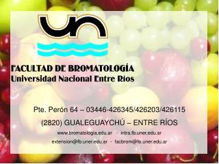 Pte. Perón 64 – 03446-426345/426203/426115 (2820) GUALEGUAYCHÚ – ENTRE RÍOS